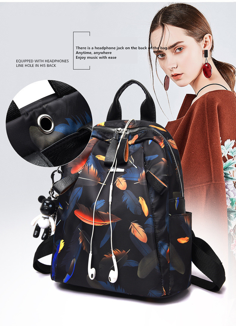 anti-theft women's backpack