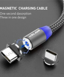Magnetic charging cable usb c