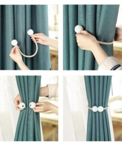 Magnetic curtain tie backs