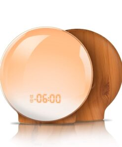 round alarm clock with nature sounds