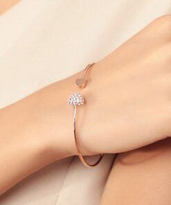 heart shaped bracelet gold and silver